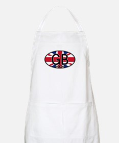 Great Britain Colors Oval BBQ Apron