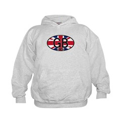 Great Britain Colors Oval Kids Hoodie