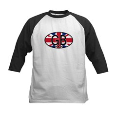 Great Britain Colors Oval Kids Baseball Jersey
