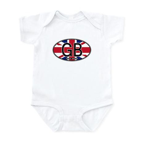 Great Britain Colors Oval Infant Bodysuit