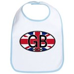 Great Britain Colors Oval Bib
