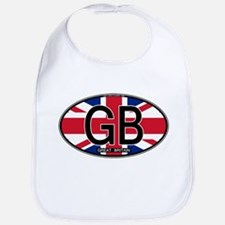 Great Britain Colors Oval Bib