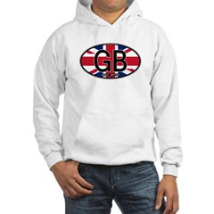 Great Britain Colors Oval Hoodie