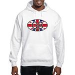 Great Britain Colors Oval Hooded Sweatshirt