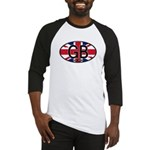 Great Britain Colors Oval Baseball Jersey