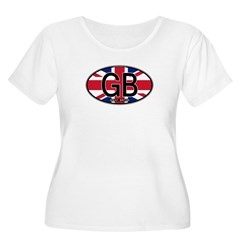 Great Britain Colors Oval T-Shirt