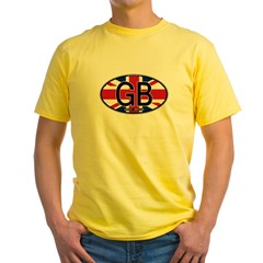 Great Britain Colors Oval T