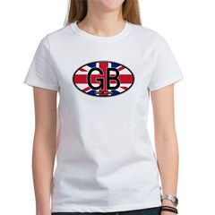 Great Britain Colors Oval Women's T-Shirt