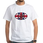 Great Britain Colors Oval White T-Shirt
