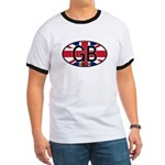 Great Britain Colors Oval Ringer T