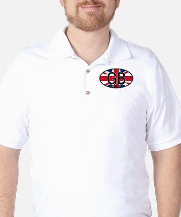 Great Britain Colors Oval Golf Shirt