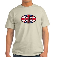 Great Britain Colors Oval Light T-Shirt