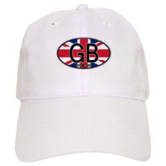 Great Britain Colors Oval Baseball Cap
