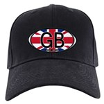 Great Britain Colors Oval Black Cap