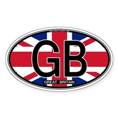 Great Britain Colors Oval Oval Decal