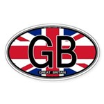 Great Britain Colors Oval Oval Sticker