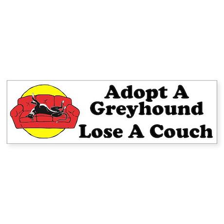 Lose A Couch Bumper Sticker (black hound)