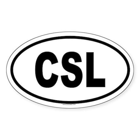 CSL Oval Sticker