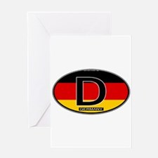 Germany Colors Oval Greeting Card