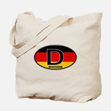 Germany Colors Oval Tote Bag