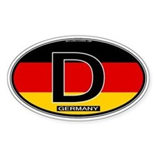 Germany Colors Oval Oval Decal