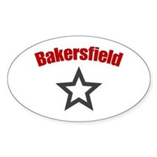 Bakersfield, CA Oval Decal