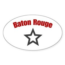 Baton Rouge, LA Oval Decal