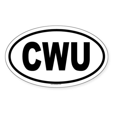 CWU Oval Sticker