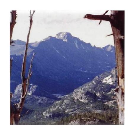 Long's Peak Colorado Tile Coaster