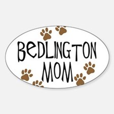 Bedlington Mom Oval Decal