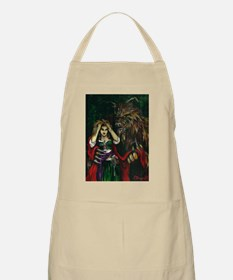 Werewolf and Red BBQ Apron