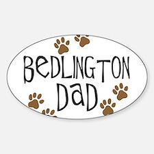 Bedlington Dad Oval Decal