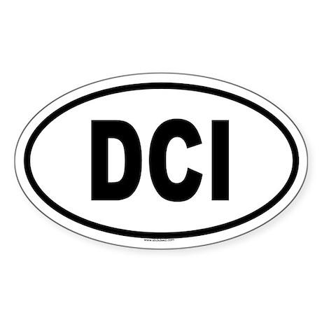 DCI Oval Sticker