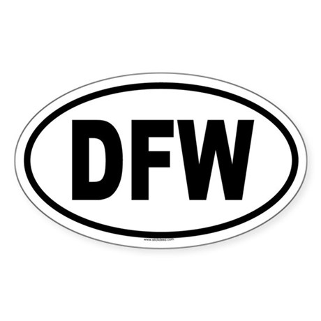 DFW Oval Sticker