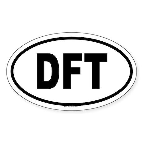 DFT Oval Sticker