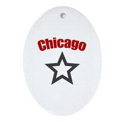 Chicago, IL Oval Ornament