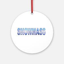 Snowmass, Colorado Ornament (Round)