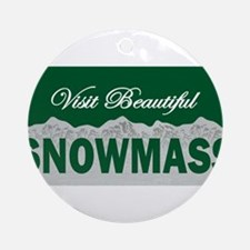 Visit Beautiful Snowmass Ornament (Round)
