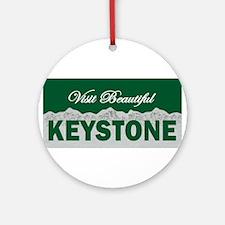 Visit Beautiful Keystone, Col Ornament (Round)