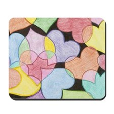 Hearts Collage Mouse Pad