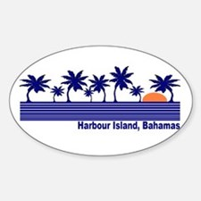 Harbour Island, Bahamas Oval Decal