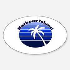 Harbour Island, Bahamas Oval Bumper Stickers