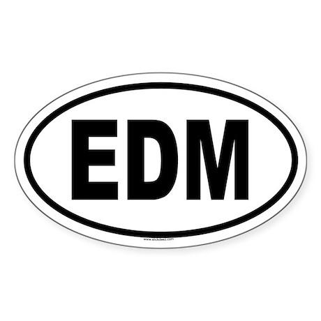 EDM Oval Sticker