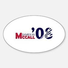 James H. McCall 08 Oval Decal
