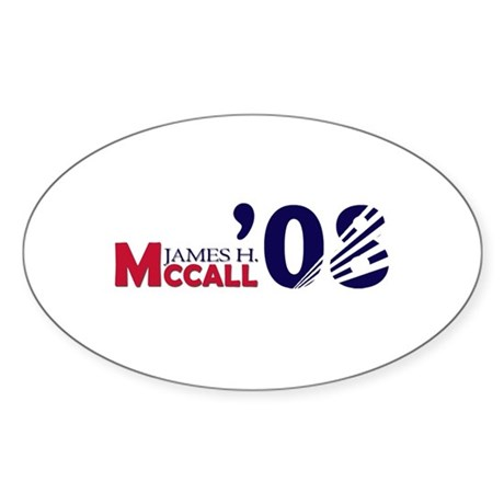 James H. McCall 08 Oval Sticker