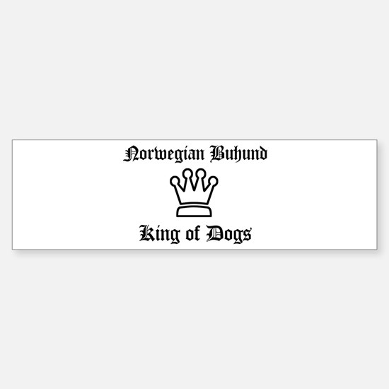 Norwegian Buhund - King of Do Bumper Bumper Bumper Sticker