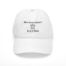 White German Shepherd - King Baseball Baseball Cap