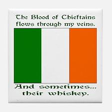 Irish Blood and Whiskey Tile Coaster