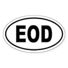 EOD Oval Decal