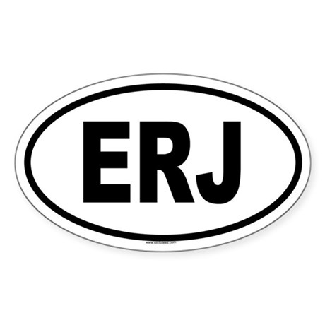 ERJ Oval Sticker